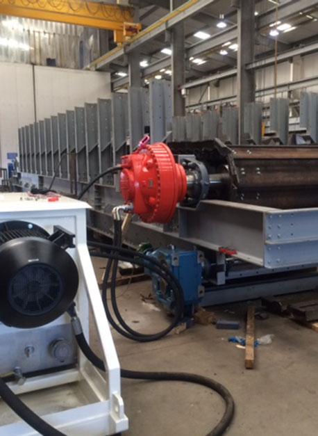 Hydraulic Conveyor Drive : Hydraulic drive chain don valley engineering